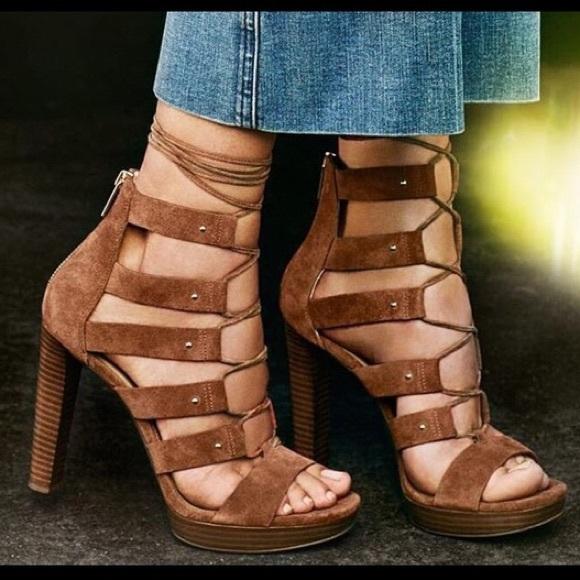 4c82c55b6a1 Michael Kors Sofia lace-up heels. M 5bfa40538ad2f96b60bb69f8